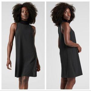 ATHLETA Initiative Black Mesh Lined Swing Dress M
